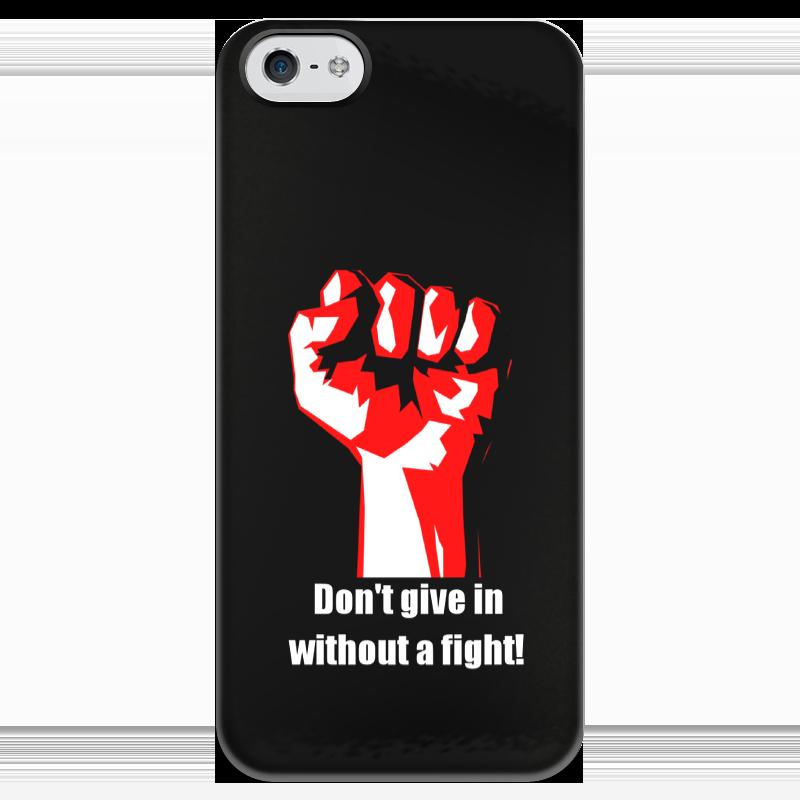 Чехол для iPhone 5 глянцевый, с полной запечаткой Printio Битва. драка. fight. бойцовский клуб свитшот унисекс с полной запечаткой printio битва драка fight бойцовский клуб
