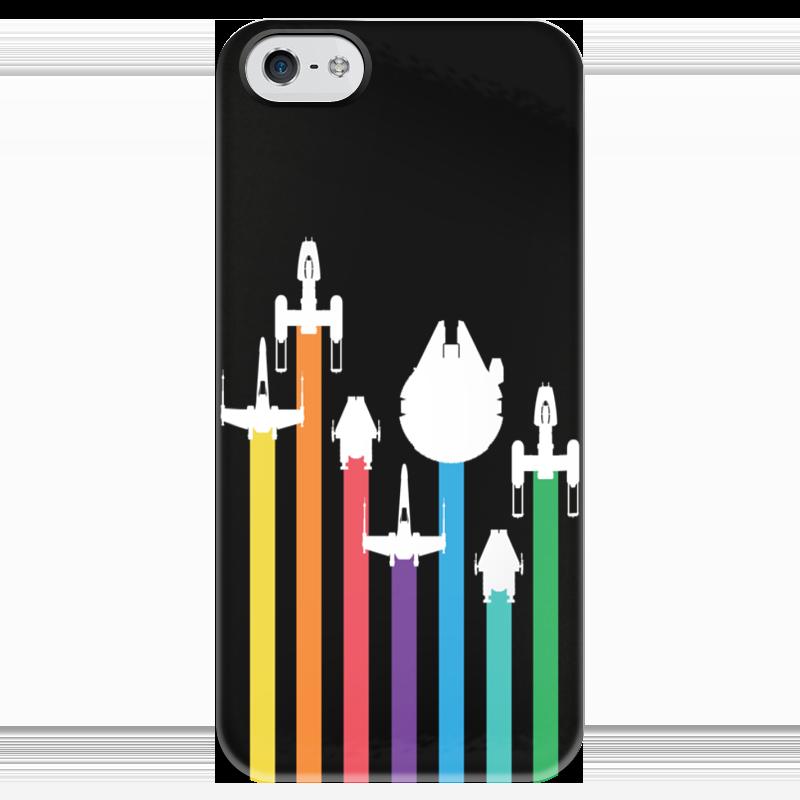 Чехол для iPhone 5 глянцевый, с полной запечаткой Printio Star wars / звездные войны