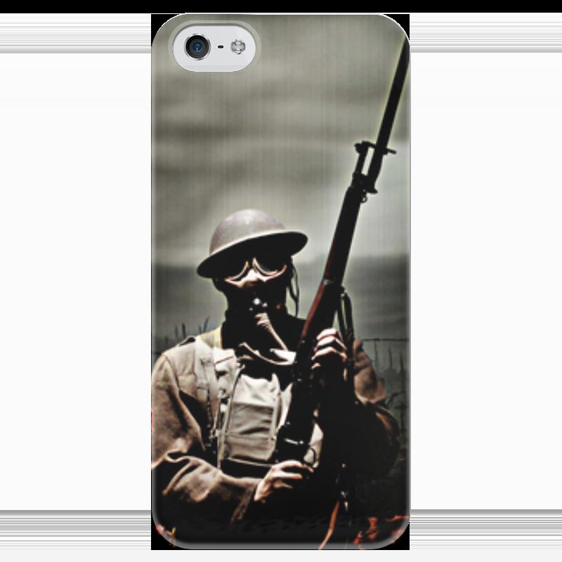 Чехол для iPhone 5 глянцевый, с полной запечаткой Printio Война чехол для iphone 5 глянцевый с полной запечаткой printio beardman case