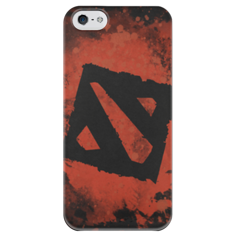 Чехол для iPhone 5 глянцевый, с полной запечаткой Printio Dota 2 - red чехол для iphone 5 глянцевый с полной запечаткой printio dota 2 iron dota