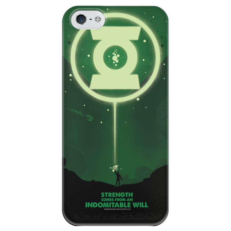 Чехол для iPhone 5 глянцевый, с полной запечаткой Printio Green lantern/зеленый фонарь футболка с полной запечаткой printio green lantern the duck 2