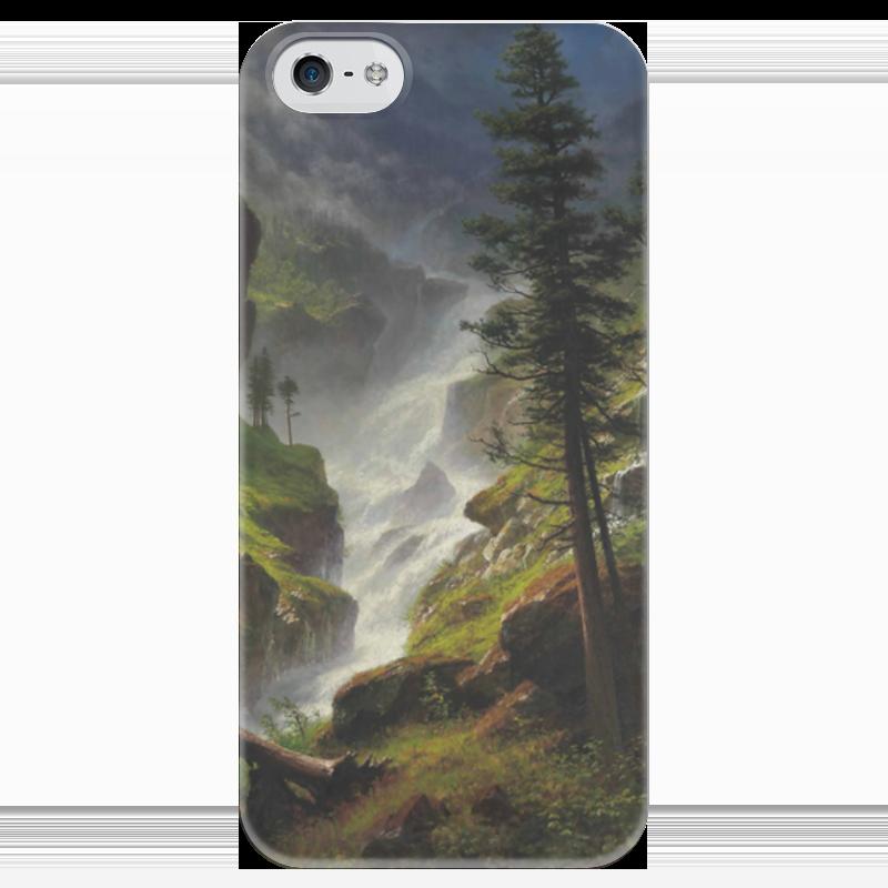 Чехол для iPhone 5 глянцевый, с полной запечаткой Printio Rocky mountain waterfall отзывы he wood rocky mountain wood