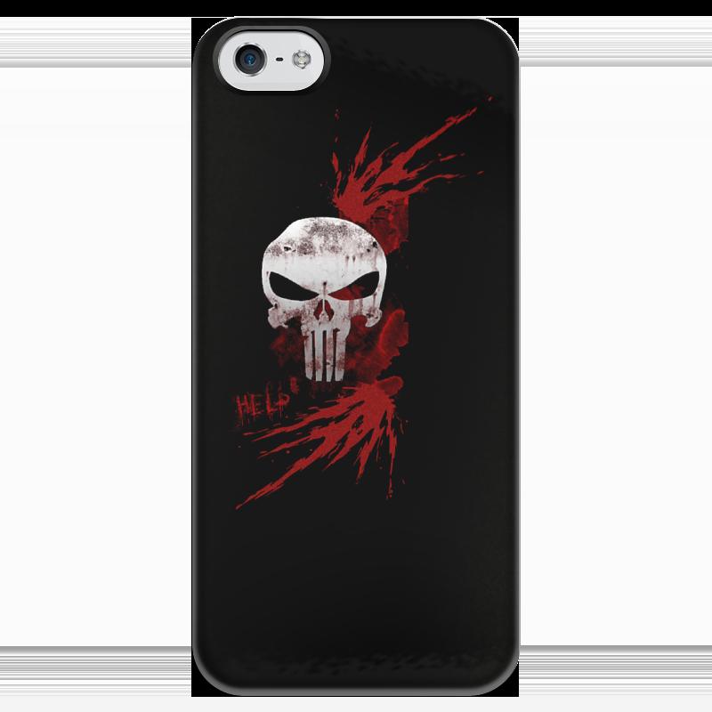 Фото - Чехол для iPhone 5 глянцевый, с полной запечаткой Printio Каратель. punisher чехол для iphone 5 глянцевый с полной запечаткой printio deadpool vs punisher
