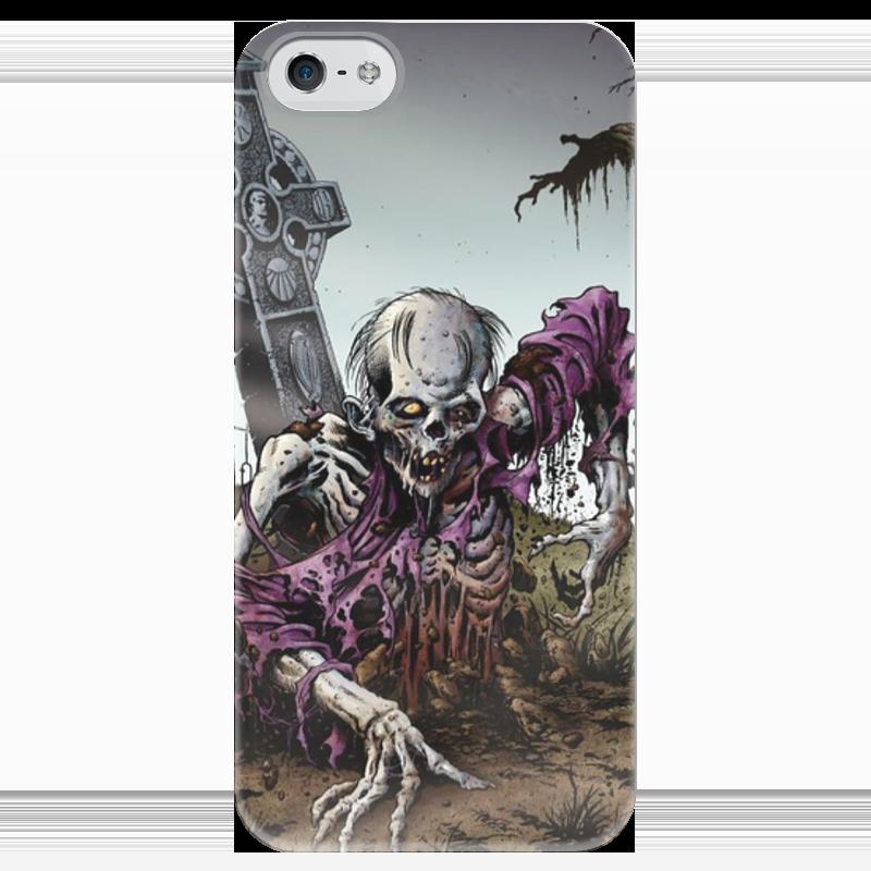 Чехол для iPhone 5 глянцевый, с полной запечаткой Printio Мертвец (зомби) чехол для iphone 4 глянцевый с полной запечаткой printio эфиопка