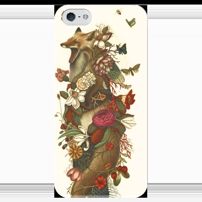 Чехол для iPhone 5 глянцевый, с полной запечаткой Printio Крученый лис чехол для iphone 4 глянцевый с полной запечаткой printio волк и лис