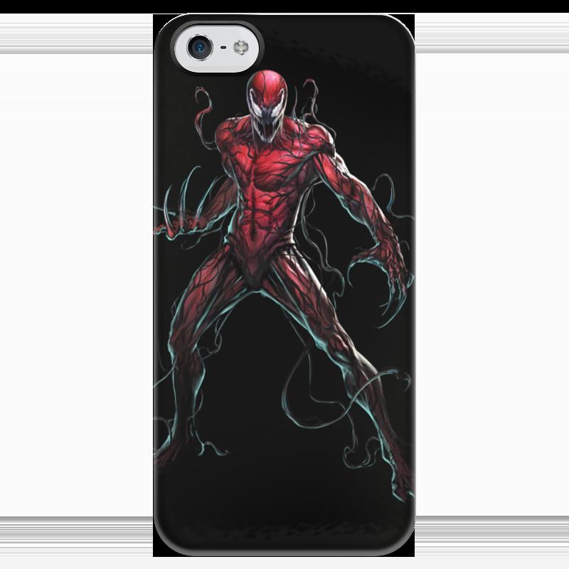 Чехол для iPhone 5 глянцевый, с полной запечаткой Printio Carnage / карнаж чехол для ноутбука 14 printio carnage карнаж