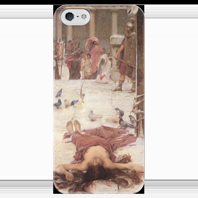 Чехол для iPhone 5 глянцевый, с полной запечаткой Printio Святая евлалия (джон уильям уотерхаус) чехол для iphone 6 глянцевый printio цирцея предлагает чашу улиссу джон уотерхаус