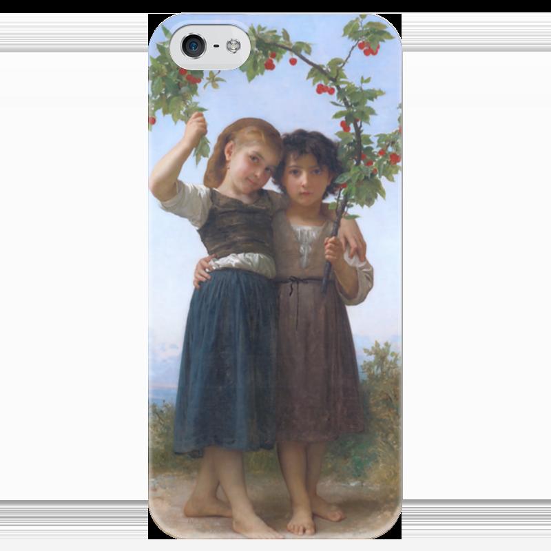 Чехол для iPhone 5 глянцевый, с полной запечаткой Printio Вишневая ветвь (la branche de cerisier) mango mango ma002ewjta28