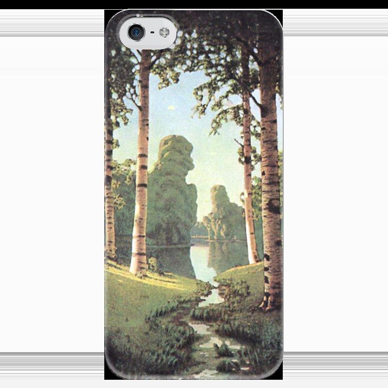 Чехол для iPhone 5 глянцевый, с полной запечаткой Printio Берёзовая роща (картина архипа куинджи) чехол для samsung galaxy note 2 printio берёзовая роща картина архипа куинджи