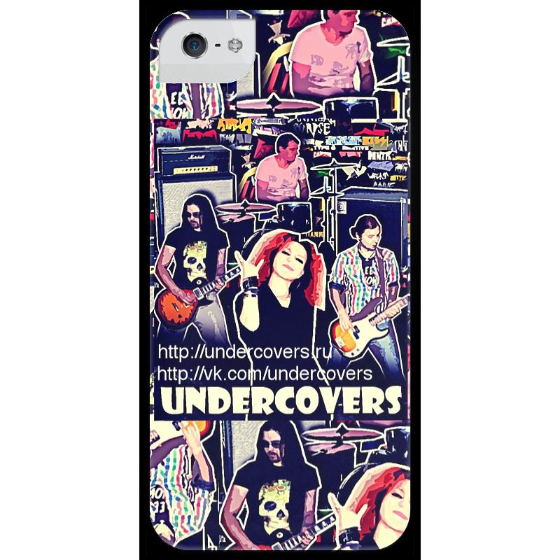Чехол для iPhone 5 глянцевый, с полной запечаткой Printio Undercovers купить часы с изображением музыкальной группы