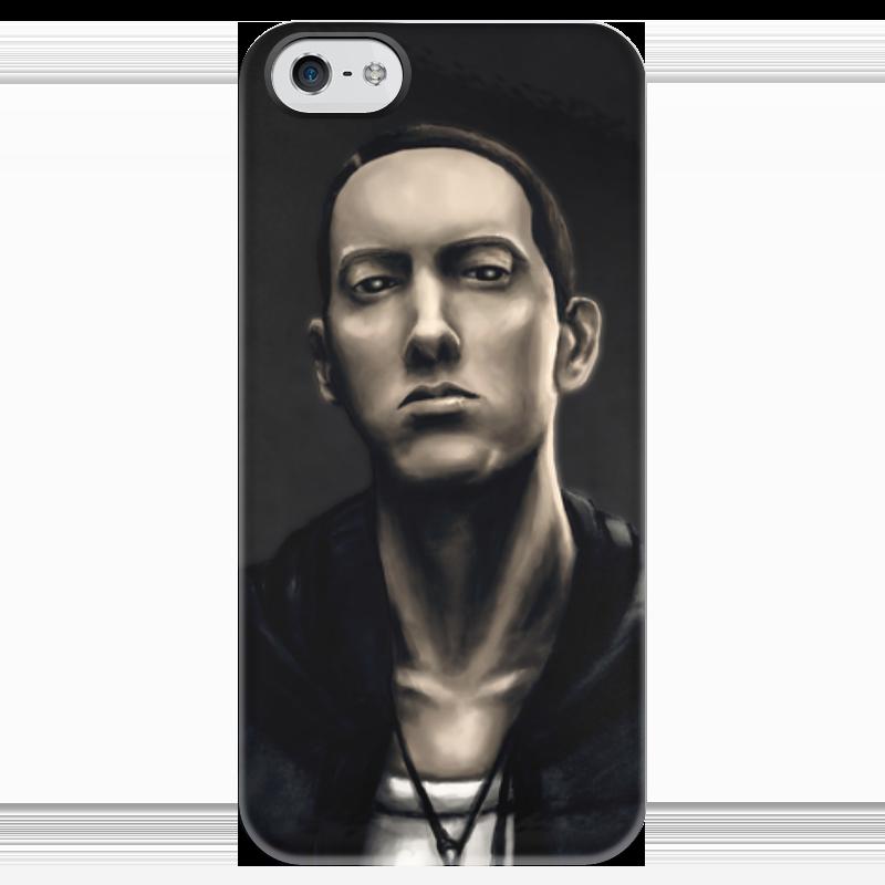 Чехол для iPhone 5 глянцевый, с полной запечаткой Printio Eminem art чехол для iphone 5 printio благодарный чехол