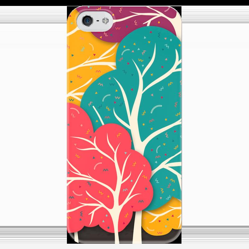 Чехол для iPhone 5 глянцевый, с полной запечаткой Printio Африканский узор - дерево жизни кувшин дерево жизни
