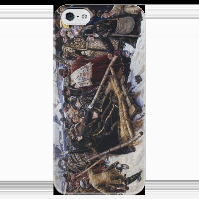 Чехол для iPhone 5 глянцевый, с полной запечаткой Printio Боярыня морозова (картина в. и. сурикова) шапка унисекс с полной запечаткой printio боярыня морозова василий суриков