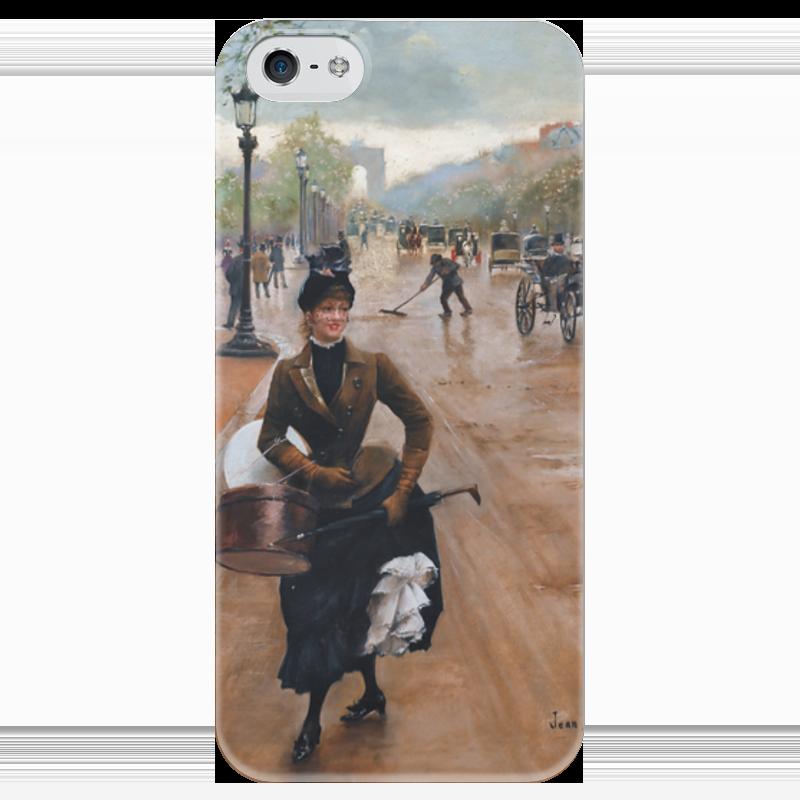 Чехол для iPhone 5 глянцевый, с полной запечаткой Printio Модистка на елисейских полях (жан беро) чехол для iphone 5 глянцевый с полной запечаткой printio флаг пророка жан леон жером