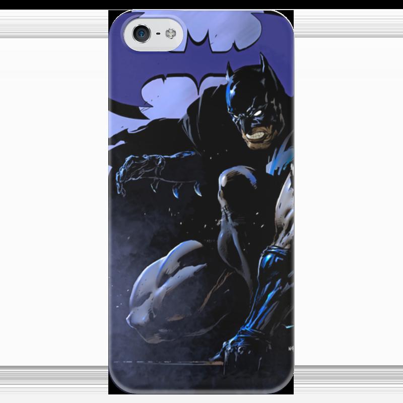 Чехол для iPhone 5 глянцевый, с полной запечаткой Printio Бэтмен