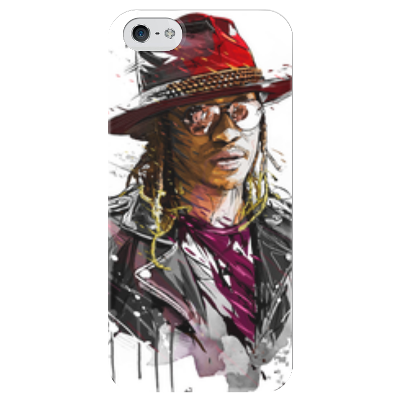 Чехол для iPhone 5 глянцевый, с полной запечаткой Printio Человек в шляпе чехол для iphone 6 глянцевый printio молодая женщина в соломенной шляпе