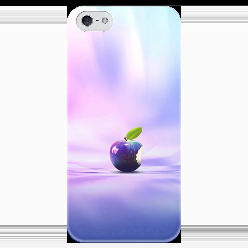 Чехол для iPhone 5 глянцевый, с полной запечаткой Printio Яблоко
