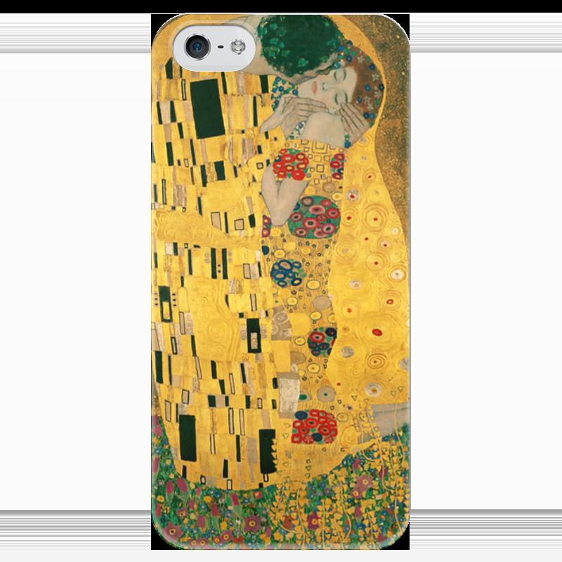 Чехол для iPhone 5 глянцевый, с полной запечаткой Printio Поцелуй (картина густава климта) гобелен 180х145 printio поцелуй картина климта