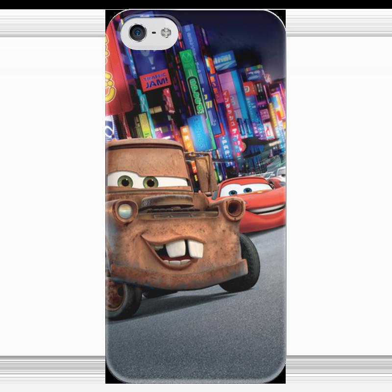 Чехол для iPhone 5 глянцевый, с полной запечаткой Printio Тачки чехол для iphone 5 глянцевый с полной запечаткой printio пилот