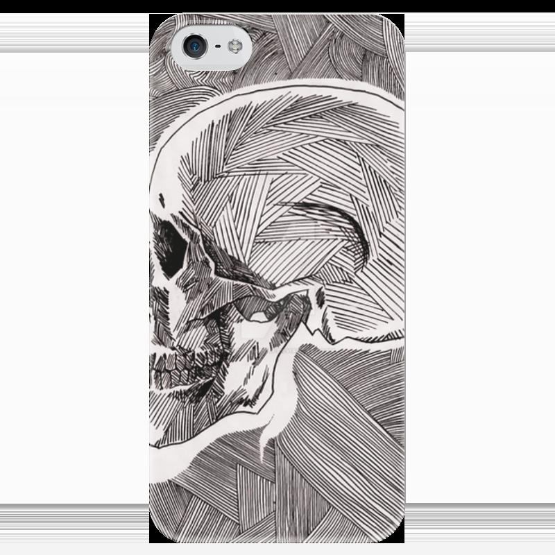 Чехол для iPhone 5 глянцевый, с полной запечаткой Printio Череп чехол для iphone 5 глянцевый с полной запечаткой printio цикличность