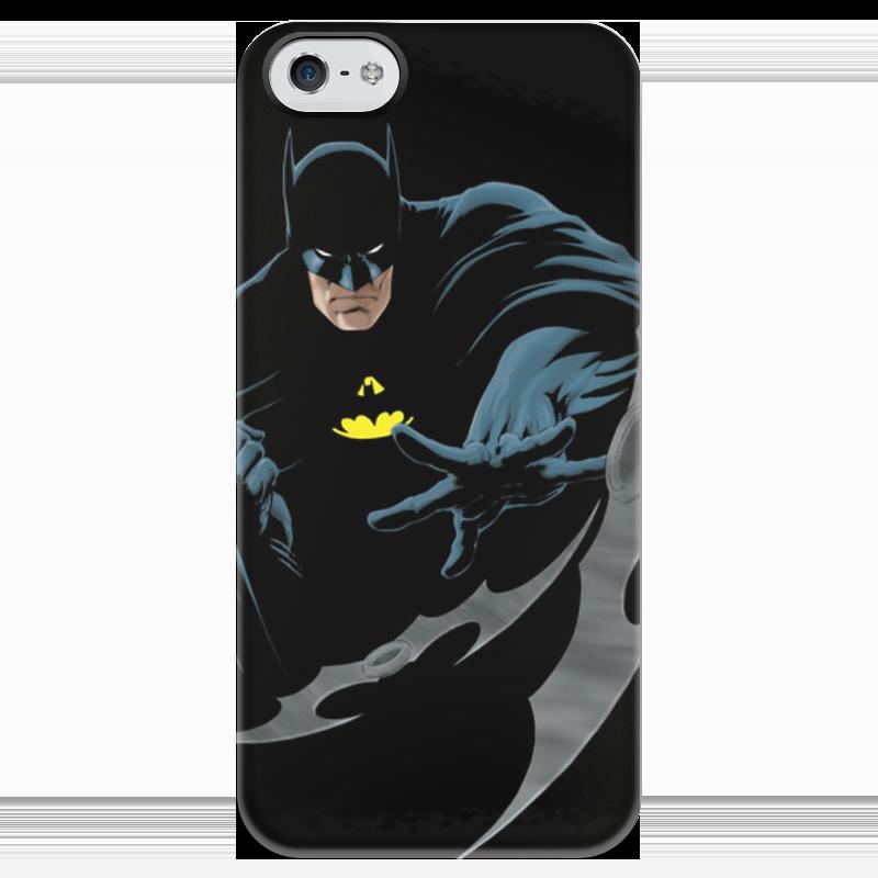 Чехол для iPhone 5 глянцевый, с полной запечаткой Printio Бэтмен чехол для iphone 5 глянцевый с полной запечаткой printio король лич