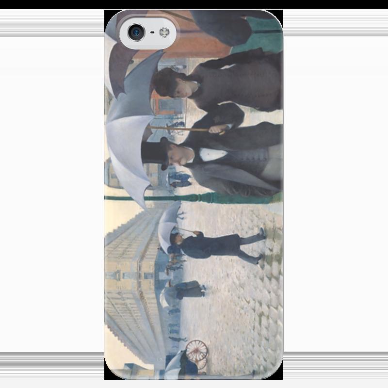 Чехол для iPhone 5 глянцевый, с полной запечаткой Printio Парижская улица в дождливую погоду парижская коммуна балетки