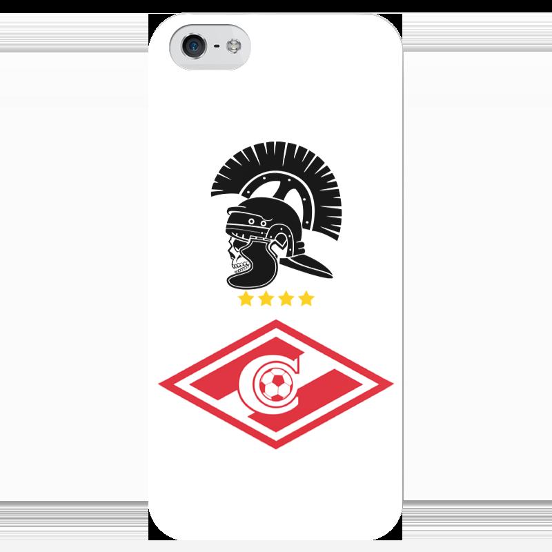 Чехол для iPhone 5 глянцевый, с полной запечаткой Printio Спартак чехол для iphone 5 глянцевый с полной запечаткой printio цикличность