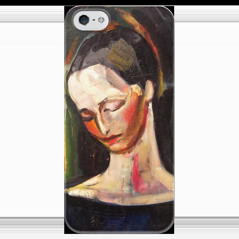Чехол для iPhone 5 глянцевый, с полной запечаткой Printio Женский портрет (илья машков) илья колмановский