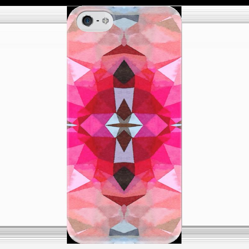 Чехол для iPhone 5 глянцевый, с полной запечаткой Printio Розовая бомба