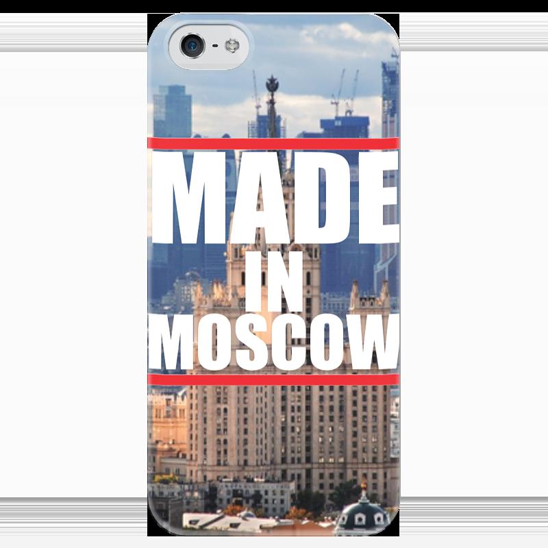 Чехол для iPhone 5 глянцевый, с полной запечаткой Printio Moscow чехол для вейкборда в москве