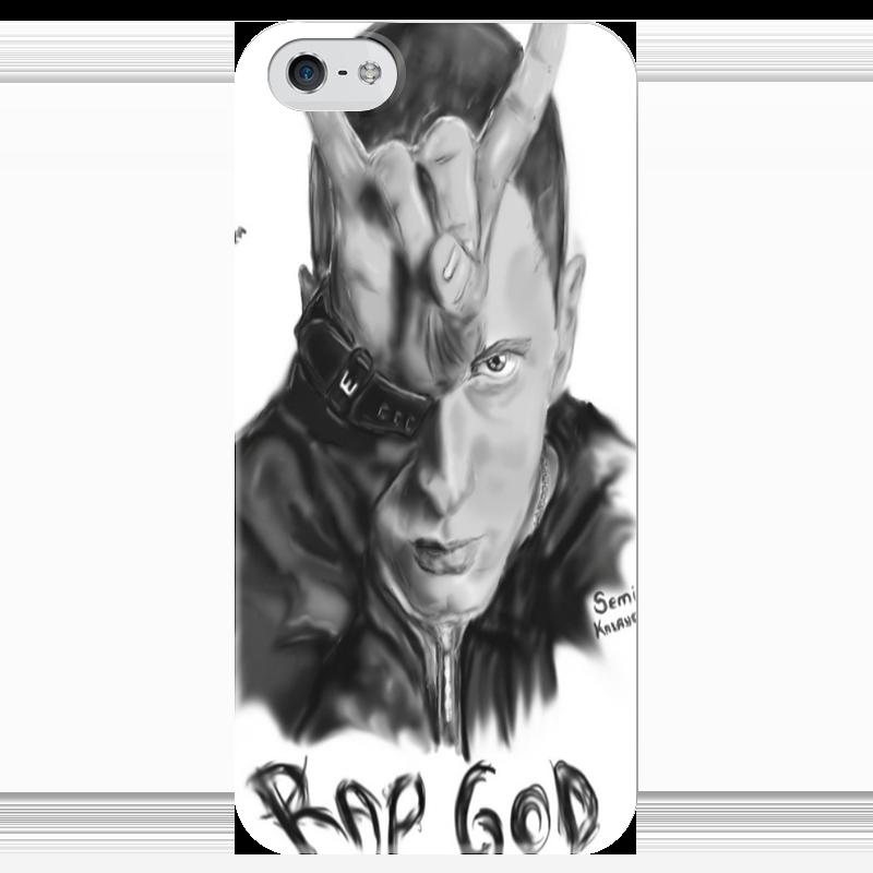 Чехол для iPhone 5 глянцевый, с полной запечаткой Printio Eminem чехол для iphone 5 глянцевый с полной запечаткой printio ember spirit dota 2