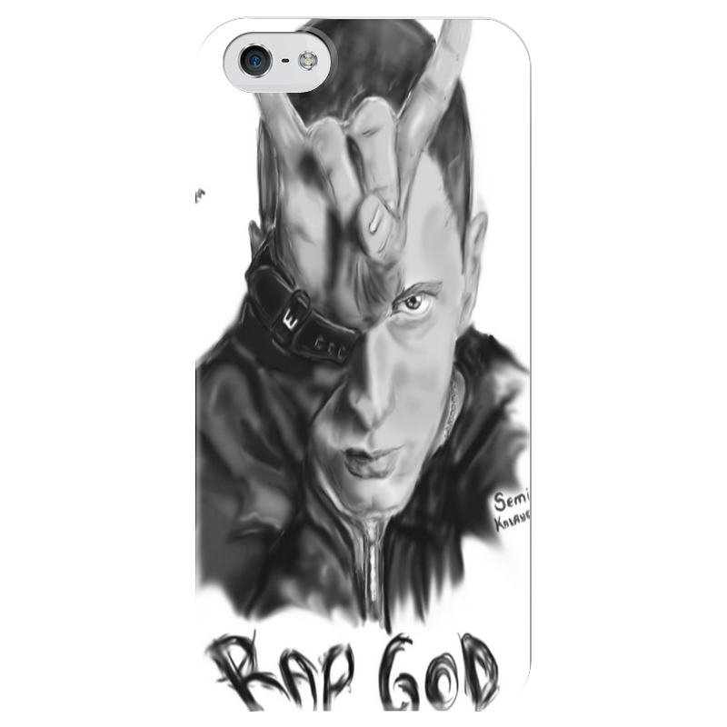 Чехол для iPhone 5 глянцевый, с полной запечаткой Printio Eminem mocoat protective shock absorption tempered glass screen protector for iphone 5c 5s transparent
