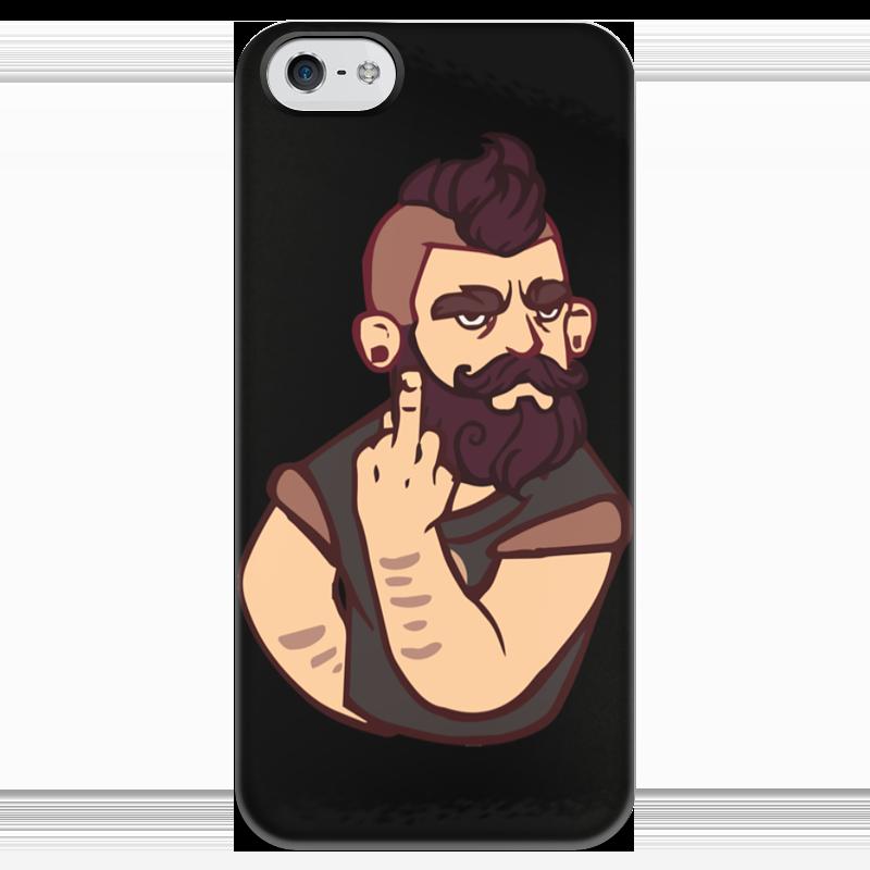 Чехол для iPhone 5 глянцевый, с полной запечаткой Printio Bearded / бородач чехол для iphone 4 глянцевый с полной запечаткой printio эфиопка