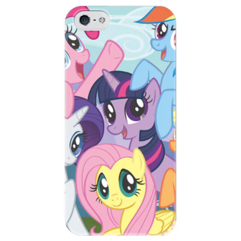Чехол для iPhone 5 глянцевый, с полной запечаткой Printio my little pony kinston i love you patterned pu leather full body case w stand for motorola moto g black red