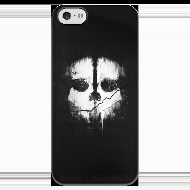 Чехол для iPhone 5 глянцевый, с полной запечаткой Printio Call of duty ghosts футболка с полной запечаткой для мальчиков printio кал оф дьюти call of duty игры