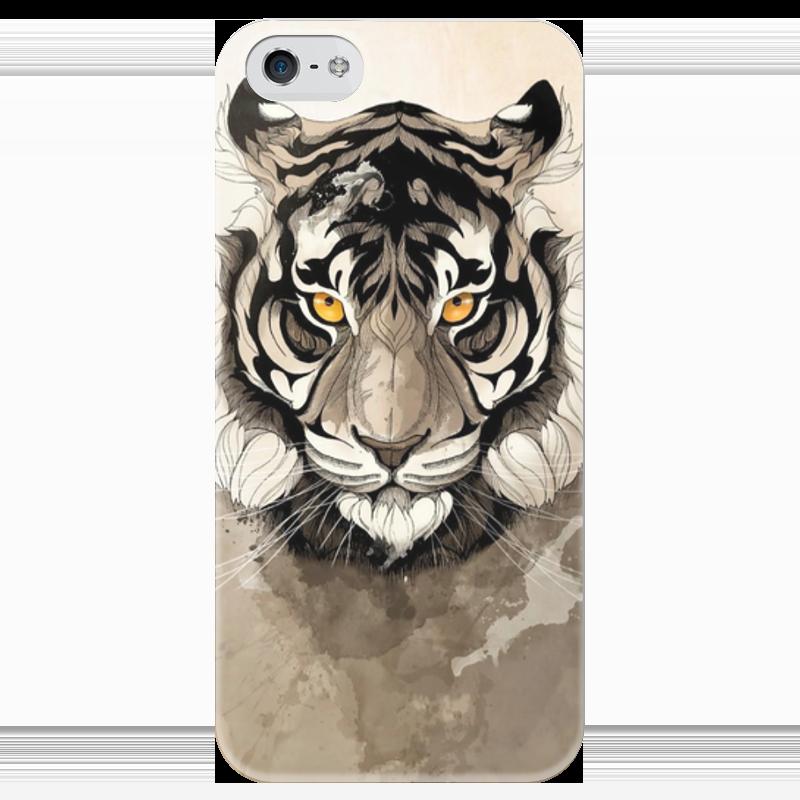 Чехол для iPhone 5 глянцевый, с полной запечаткой Printio Тигр чехол для iphone 5 глянцевый с полной запечаткой printio zayn malik