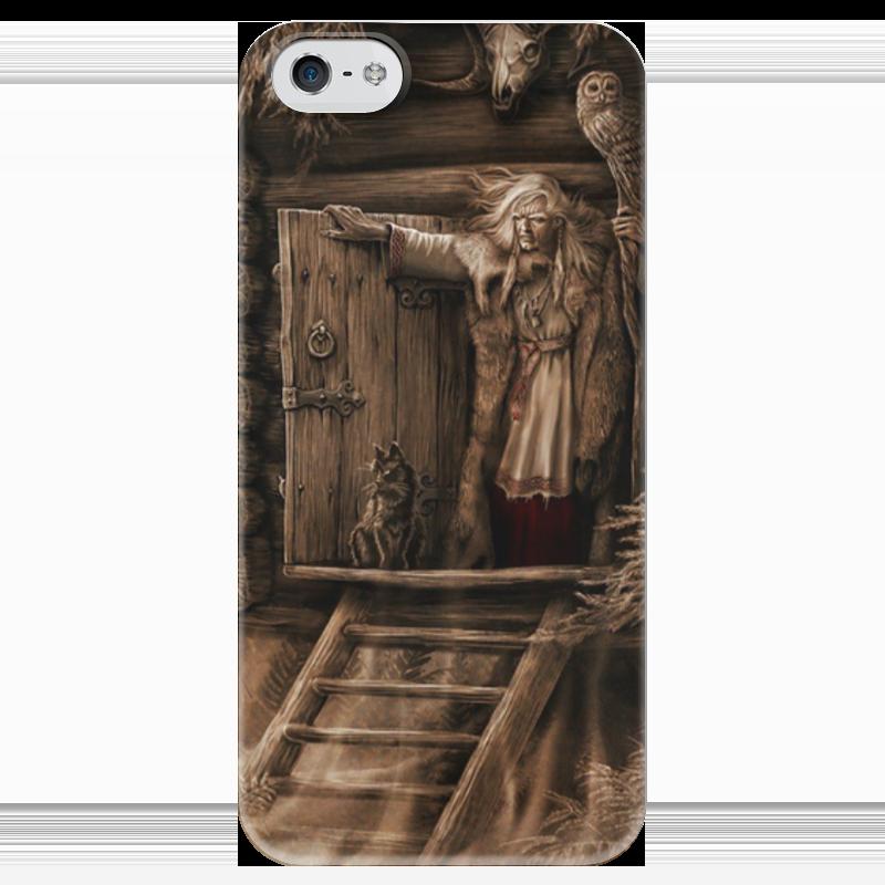 Чехол для iPhone 5 глянцевый, с полной запечаткой Printio Баба-яга футболка с полной запечаткой женская printio баба яга