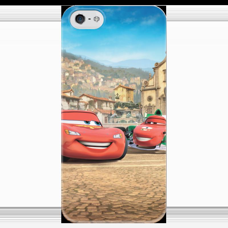 Чехол для iPhone 5 глянцевый, с полной запечаткой Printio Тачки чехол для iphone 5 глянцевый с полной запечаткой printio иллид