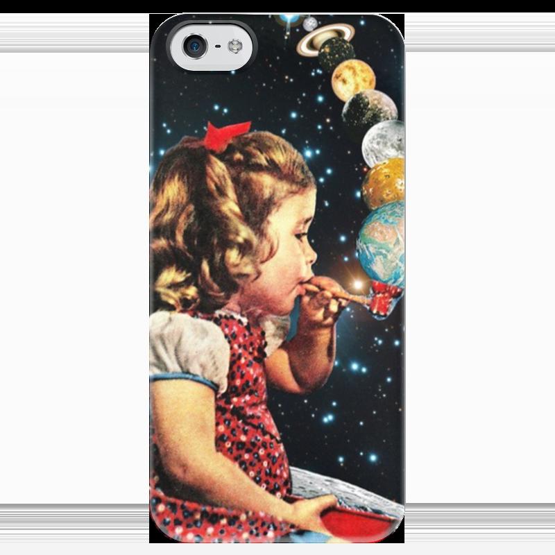 Чехол для iPhone 5 глянцевый, с полной запечаткой Printio Космос чехол для iphone 5 глянцевый с полной запечаткой printio хлоя морец