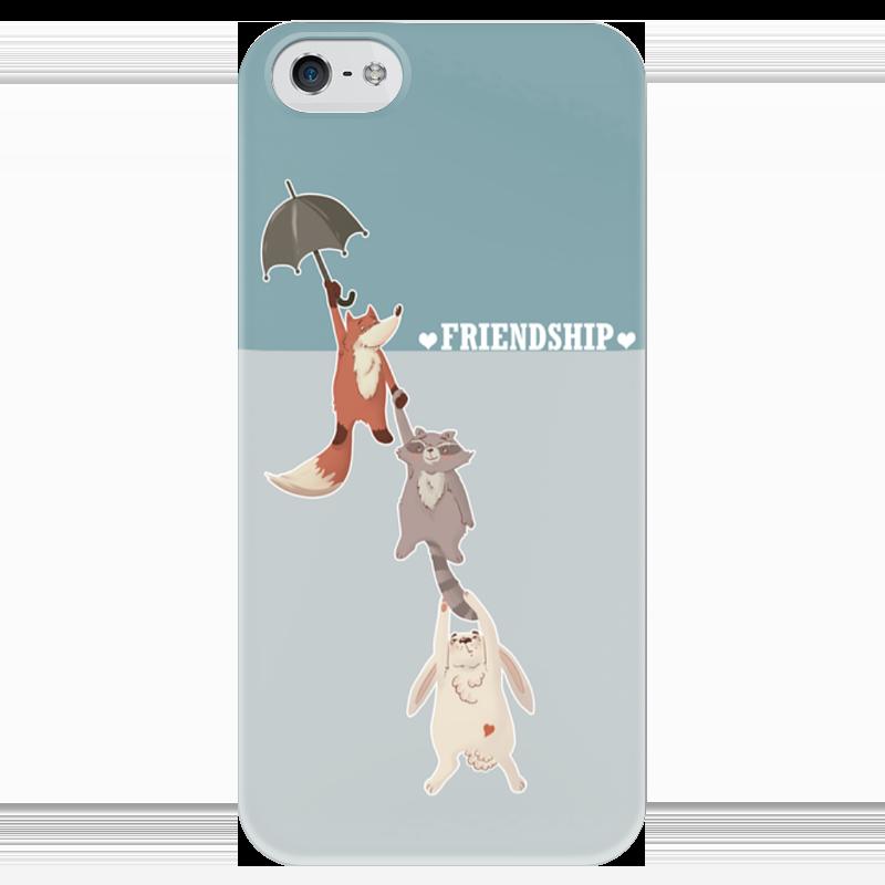 Чехол для iPhone 5 глянцевый, с полной запечаткой Printio Дружба стоимость