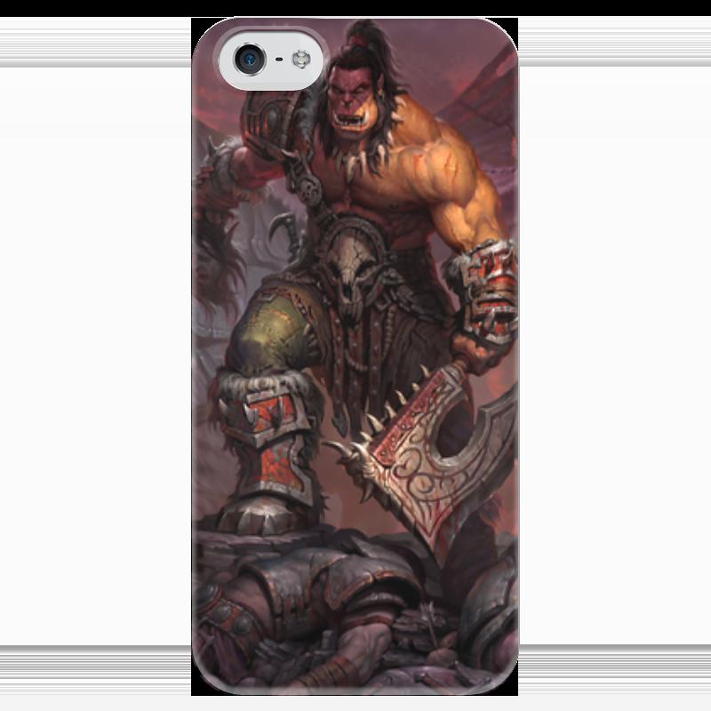 Чехол для iPhone 5 глянцевый, с полной запечаткой Printio Warcraft чехол для iphone 5 глянцевый с полной запечаткой printio иллид