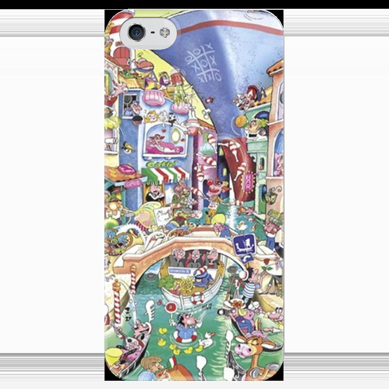 Чехол для iPhone 5 глянцевый, с полной запечаткой Printio Венеция чехол для iphone 5 глянцевый с полной запечаткой printio пилот