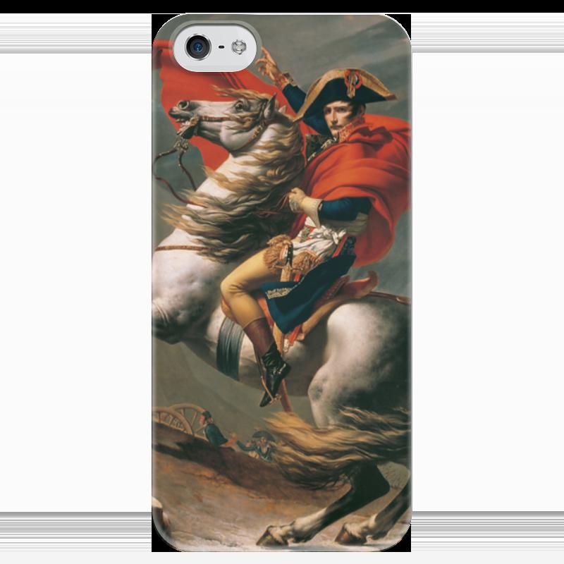 Чехол для iPhone 5 глянцевый, с полной запечаткой Printio Наполеон на перевале сен-бернар (жак-луи давид)