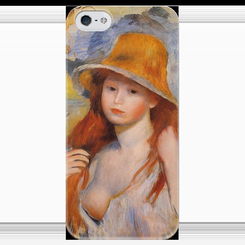 Чехол для iPhone 5 глянцевый, с полной запечаткой Printio Молодая женщина в соломенной шляпе чехол для iphone 4 глянцевый с полной запечаткой printio сад на улице корто сад на монмартре ренуар