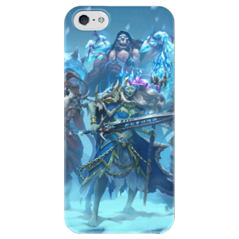 Чехол для iPhone 5 глянцевый, с полной запечаткой Printio Knights of the frozen throne
