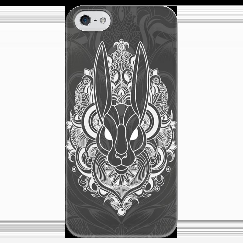 Чехол для iPhone 5 глянцевый, с полной запечаткой Printio Заяц в узорах чехол для iphone 4 глянцевый с полной запечаткой printio кролик