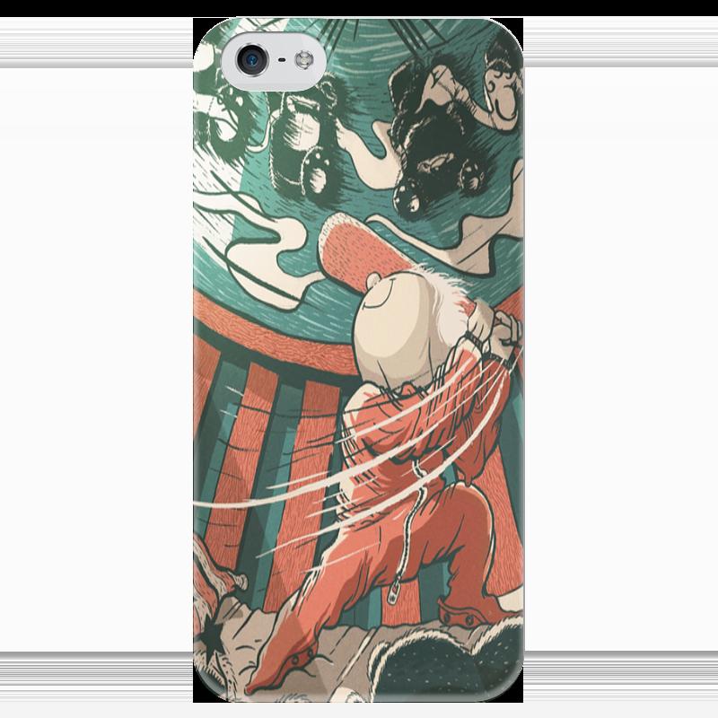 Чехол для iPhone 5 глянцевый, с полной запечаткой Printio Baseball man