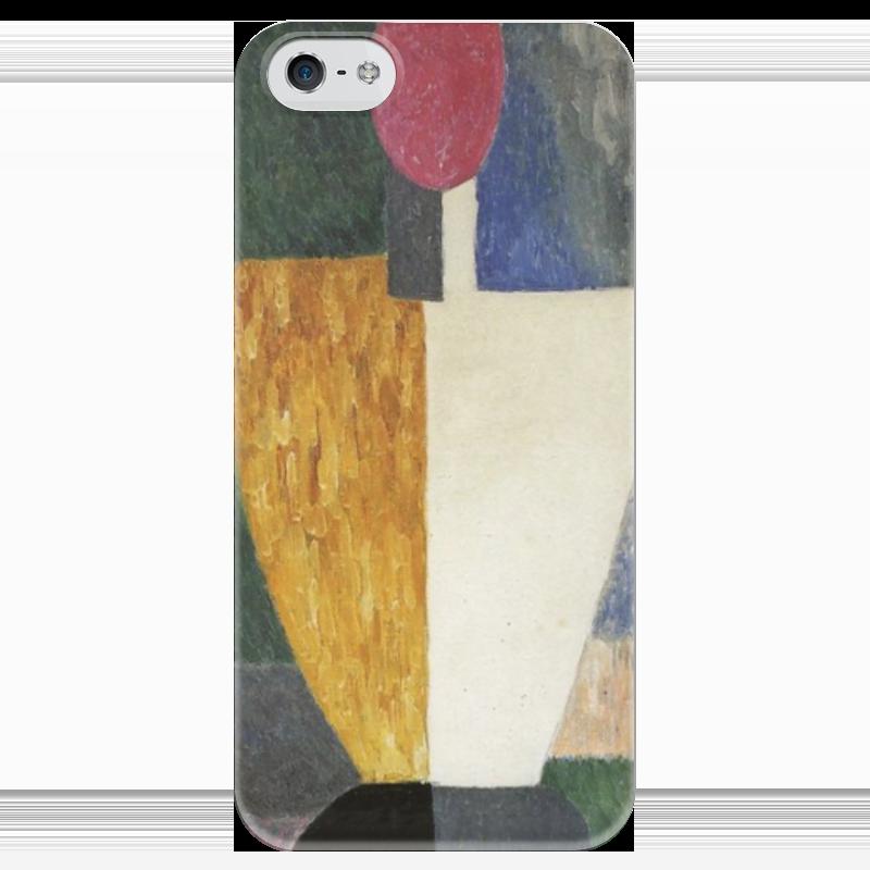 Чехол для iPhone 5 глянцевый, с полной запечаткой Printio Торс (фигура с розовым лицом) (малевич) чехол для samsung galaxy s5 printio торс фигура с розовым лицом малевич
