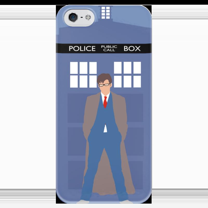 Чехол для iPhone 5 глянцевый, с полной запечаткой Printio Доктор кто и тардис / doctor who & tardis свитшот унисекс с полной запечаткой printio доктор кто и тардис doctor who