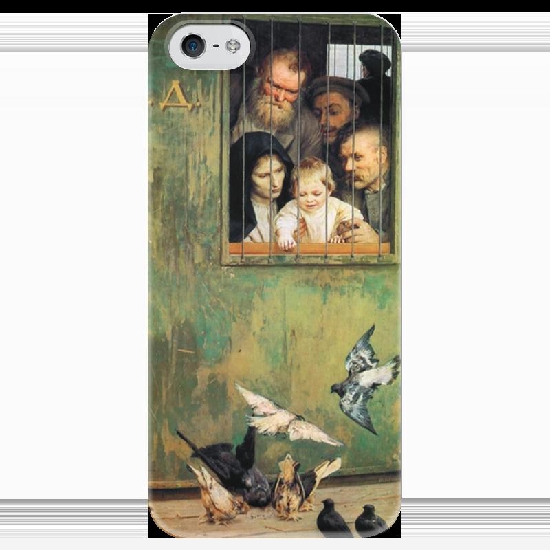 Чехол для iPhone 5 глянцевый, с полной запечаткой Printio Всюду жизнь (картина николая ярошенко) хетч б всюду третий лишний